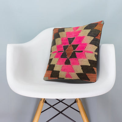 Chevron Multi Color Kilim Pillow Cover 16x16 3493 - kilimpillowstore  - 1