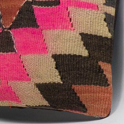 Chevron Multi Color Kilim Pillow Cover 16x16 3493 - kilimpillowstore  - 3