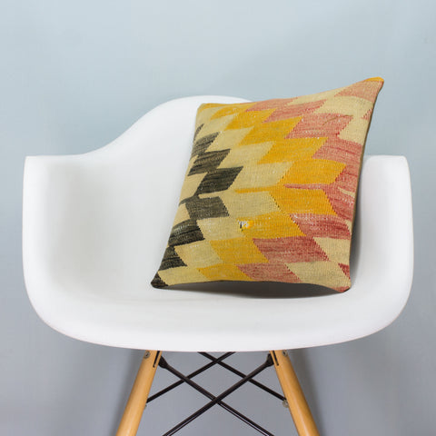Chevron_Multi Color_Kilim Pillow Cover_16x16_A0053_3676