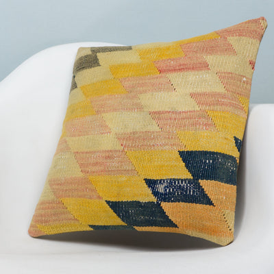 Chevron Multi Color Kilim Pillow Cover 16x16 3678 - kilimpillowstore  - 2
