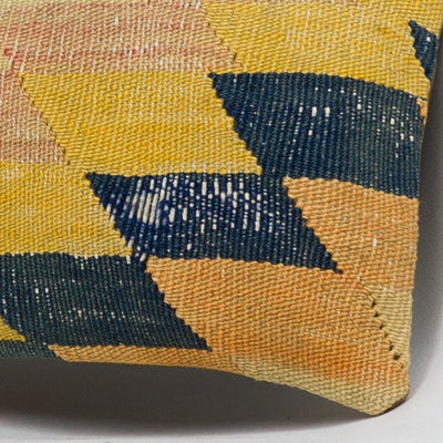 Chevron Multi Color Kilim Pillow Cover 16x16 3678 - kilimpillowstore  - 3