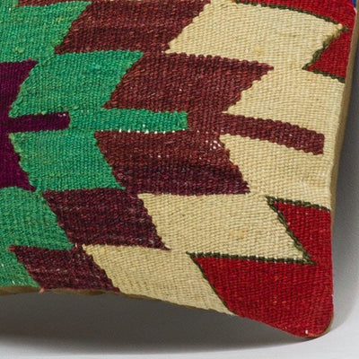 Chevron Multi Color Kilim Pillow Cover 16x16 3715 - kilimpillowstore  - 3