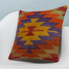 Chevron Multi Color Kilim Pillow Cover 16x16 3733 - kilimpillowstore  - 2