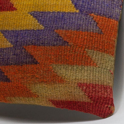 Chevron Multi Color Kilim Pillow Cover 16x16 3733 - kilimpillowstore  - 3