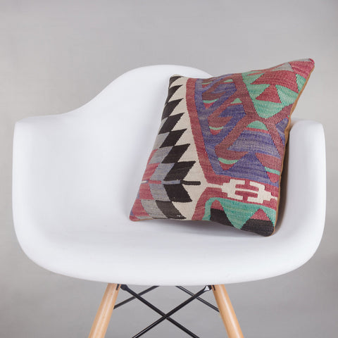 Chevron Multi Color Kilim Pillow Cover 16x16 5280 - kilimpillowstore  - 1