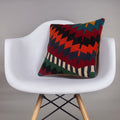 Chevron Multi Color Kilim Pillow Cover 16x16 4578