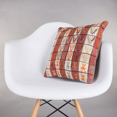 Contemporary Multi Color Kilim Pillow Cover 16x16 5157 - kilimpillowstore  - 1