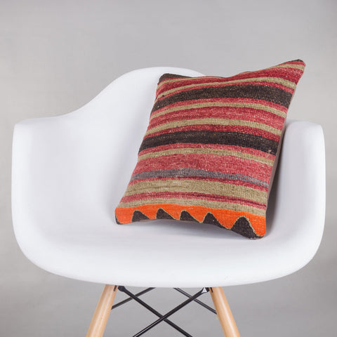 Contemporary Multi Color Kilim Pillow Cover 16x16 5367 - kilimpillowstore  - 1