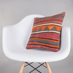 Contemporary Multi Color Kilim Pillow Cover 16x16 5376 - kilimpillowstore  - 1