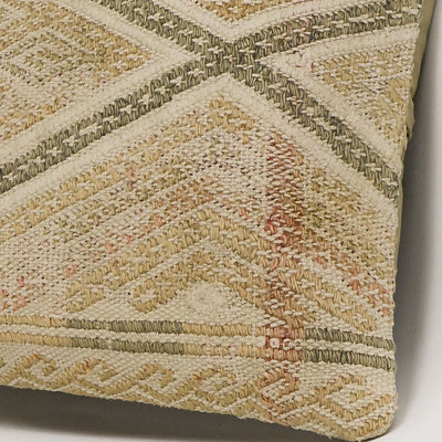 Geometric Beige Kilim Pillow Cover 16x16 3124 - kilimpillowstore