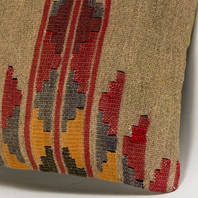 Geometric Brown Kilim Pillow Cover 16x16 2829 - kilimpillowstore