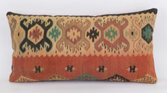 Geometric Multi Color Kilim Pillow Cover 12x24 5550 - kilimpillowstore  - 1