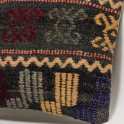 Geometric Multi Color Kilim Pillow Cover 16x16 3089 - kilimpillowstore