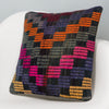 Geometric Multi Color Kilim Pillow Cover 16x16 3095 - kilimpillowstore