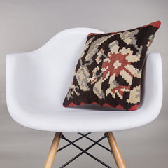 Geometric Multi Color Kilim Pillow Cover 16x16 4734 - kilimpillowstore  - 1