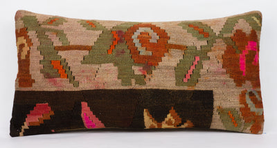 Moldovian Multi Color Kilim Pillow Cover 12x24 4272 - kilimpillowstore  - 2