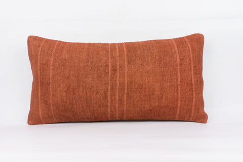 Plain Brown Kilim Pillow Cover 12x24 4176 - kilimpillowstore  - 1