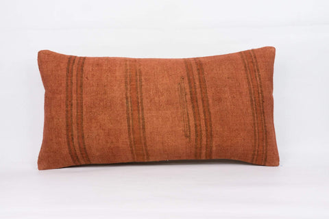 Plain Brown Kilim Pillow Cover 12x24 4187 - kilimpillowstore  - 1
