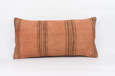 Plain Brown Kilim Pillow Cover 12x24 4191 - kilimpillowstore  - 1