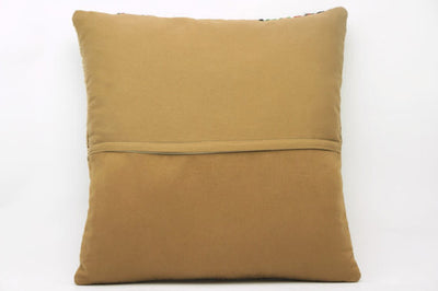 Plain Brown Kilim Pillow Cover 16x16 2914 - kilimpillowstore