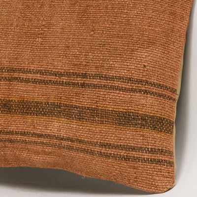 Plain Brown Kilim Pillow Cover 16x16 2922 - kilimpillowstore