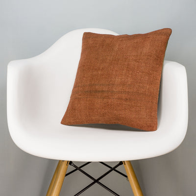Plain Brown Kilim Pillow Cover 16x16 2925 - kilimpillowstore