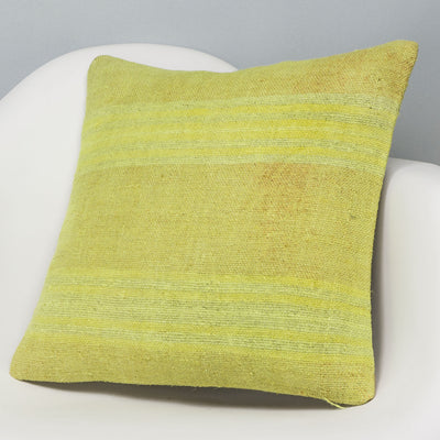 Plain Green Kilim Pillow Cover 16x16 2956 - kilimpillowstore