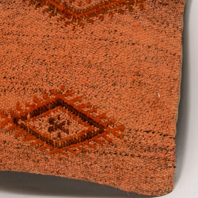 Plain Orange Kilim Pillow Cover 16x16 2991 - kilimpillowstore