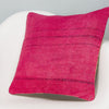 Plain Pink Kilim Pillow Cover 16x16 3012 - kilimpillowstore