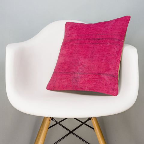 Plain Pink Kilim Pillow Cover 16x16 3016 - kilimpillowstore