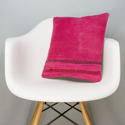 Plain Pink Kilim Pillow Cover 16x16 3019 - kilimpillowstore