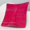 Plain Pink Kilim Pillow Cover 16x16 3031 - kilimpillowstore