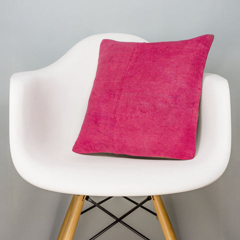 Plain Pink Kilim Pillow Cover 16x16 3037 - kilimpillowstore