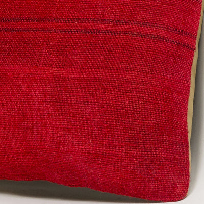 Plain Red Kilim Pillow Cover 16x16 2880 - kilimpillowstore