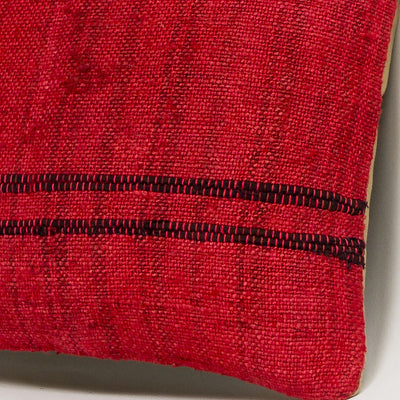 Plain Red Kilim Pillow Cover 16x16 2893 - kilimpillowstore