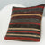 Striped Brown Kilim Pillow Cover 16x16 2852 - kilimpillowstore