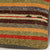 Striped Brown Kilim Pillow Cover 16x16 2857 - kilimpillowstore