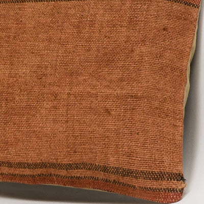 Striped Brown Kilim Pillow Cover 16x16 2949 - kilimpillowstore