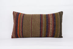 Striped Multi Color Kilim Pillow Cover 12x24 4044 - kilimpillowstore  - 1