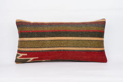 Striped Multi Color Kilim Pillow Cover 12x24 4096 - kilimpillowstore  - 1