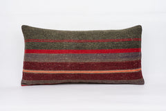 Striped Multi Color Kilim Pillow Cover 12x24 4097 - kilimpillowstore  - 1