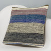 Striped Multi Color Kilim Pillow Cover 16x16 3051 - kilimpillowstore
