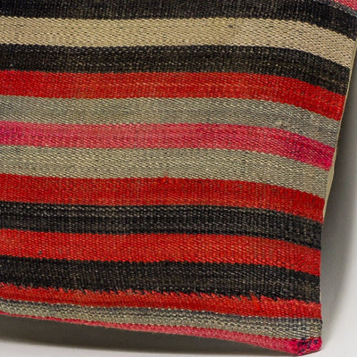 Striped Multi Color Kilim Pillow Cover 16x16 3191 - kilimpillowstore