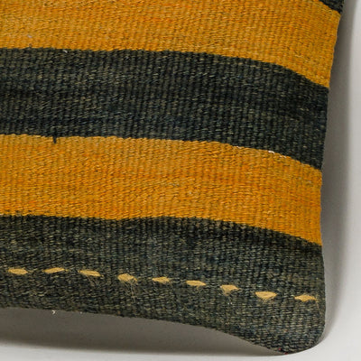 Striped Multi Color Kilim Pillow Cover 16x16 3220 - kilimpillowstore