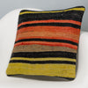 Striped Multi Color Kilim Pillow Cover 16x16 3269 - kilimpillowstore