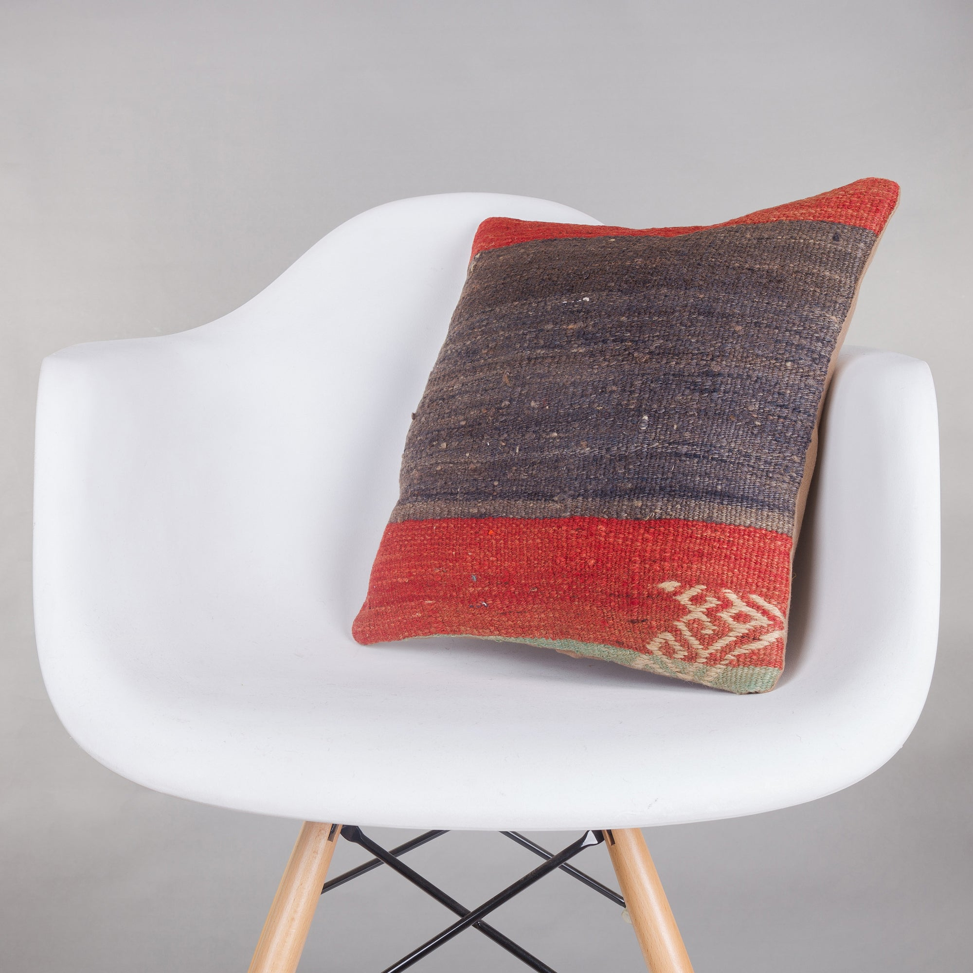 Striped Multi Color Kilim Pillow Cover 16x16 5388