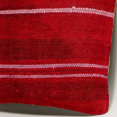 Striped Red Kilim Pillow Cover 16x16 2888 - kilimpillowstore