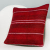 Striped Red Kilim Pillow Cover 16x16 2896 - kilimpillowstore