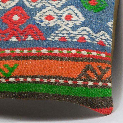 Anatolian Multi Color Kilim Pillow Cover 16x16 3644 - kilimpillowstore  - 3