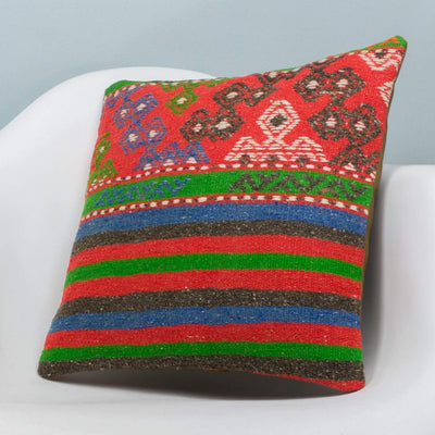 Anatolian Multi Color Kilim Pillow Cover 16x16 3648 - kilimpillowstore  - 2